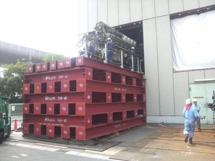 超精密機械の運搬