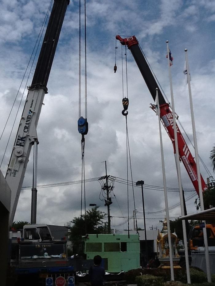 機械の吊変え